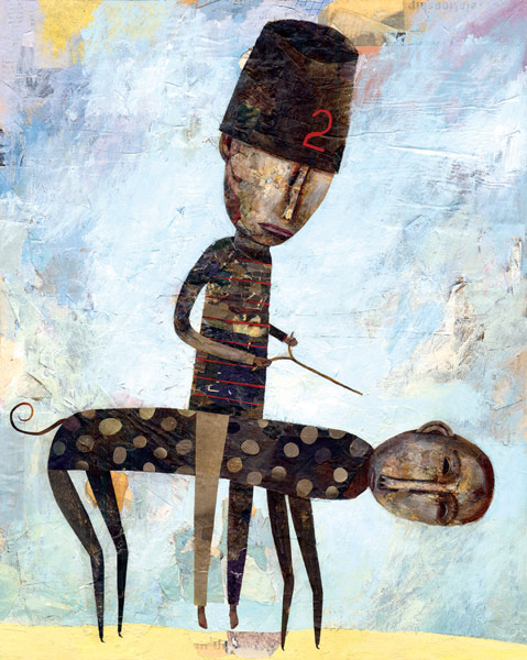 . 2004 . mixed media on panel . 20 x 16 inches