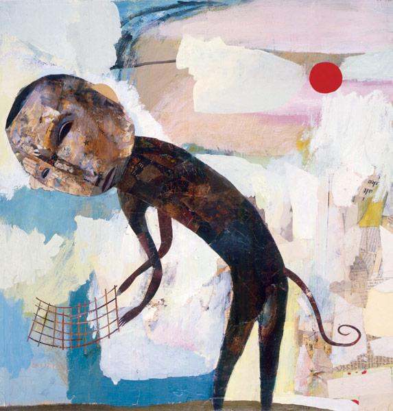 . 2001, mixed media on paper, 21 x 22 inches