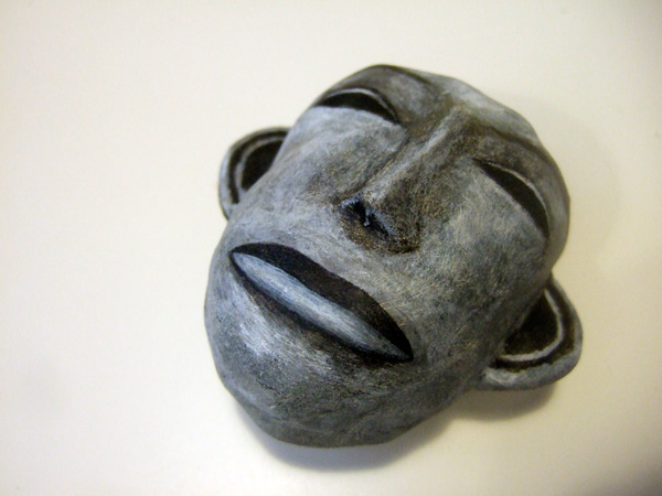 """. """"Happily Unhappy"""" group show, Blanc Compound, Philippines, 2010, polymer clay and acrylic paint"""
