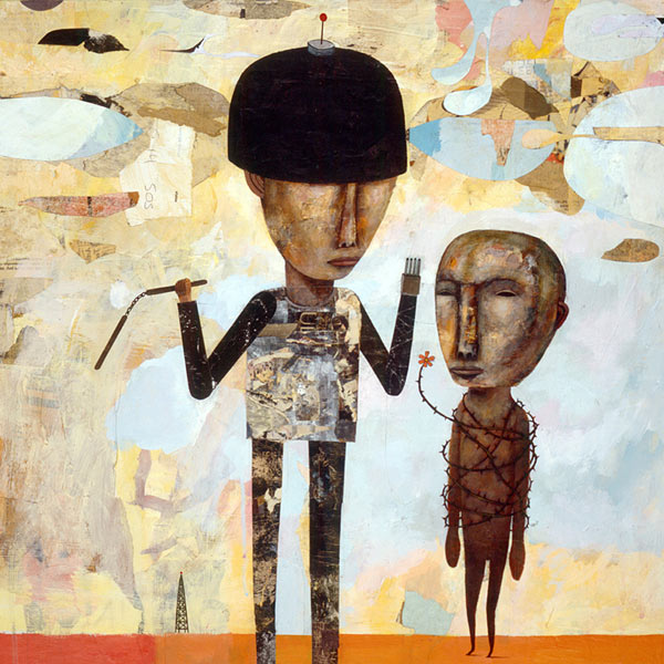 . 2004, mixed media on masonite, 23 x 23 inches