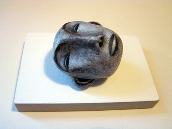 . Art for Ashes benefit auction, Los Angeles, 2011, polymer clay and acrylic paint on wood base